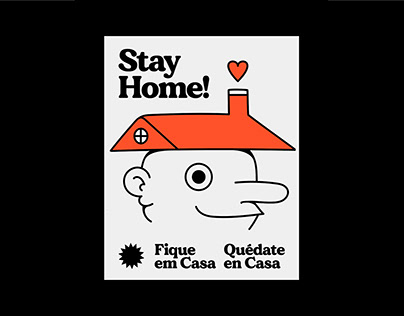 STAY HOME / COVID-19 POSTER