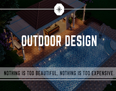 Backyard Design   Swimming pool with outdoor sitting