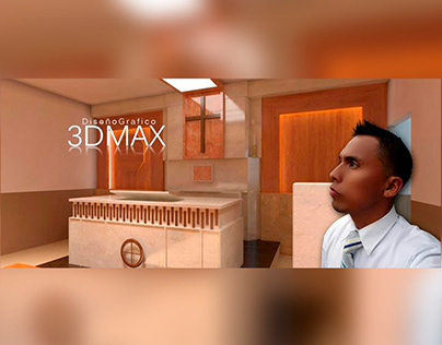 Chapel in 3DMax Church