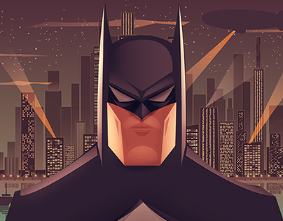 BATMAN the animated series - Poster vector