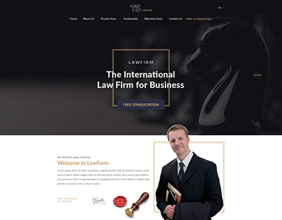 Law Firm Latest Website trending landing page UI