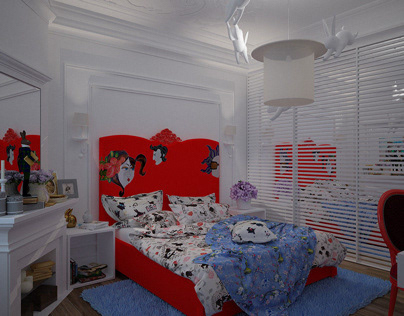 Girl`s room. Private apartment. Baku Azerbaijan. 2017
