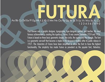 Futura Type Specimen Poster