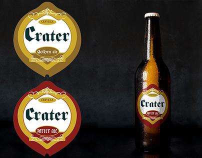 Etiquetas Cervecería Crater