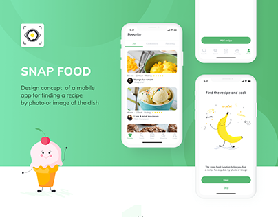 Snap Food - Recipe App for IOS