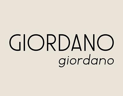 Giordano – Font Family