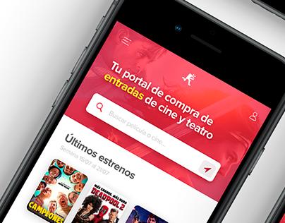 ReservaEntradas Mobile Redesign. Cinema Ticketing