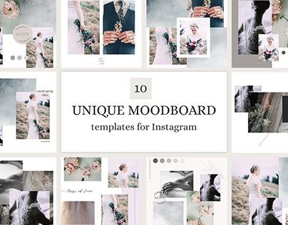 Moodboard templates for Instagram / Collage Style
