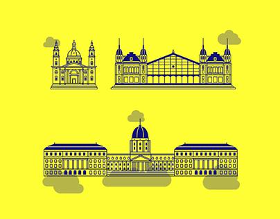 Budapest - Icon set (FREE)