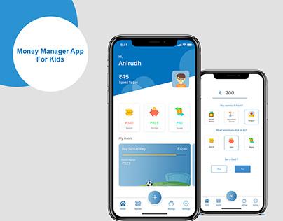 Kids Money Manager App - UI Design