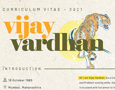 Vijay Vardhan Curriculum Vitae