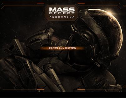 Mass Effect Andromeda (game menu redesign)