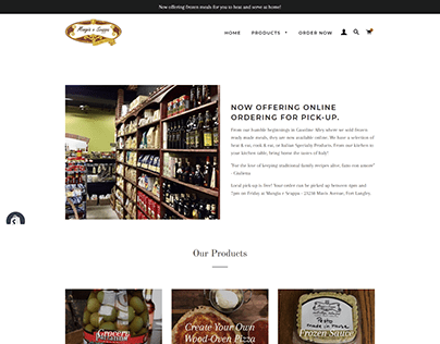 Mangia e Scappa eCommerce Website