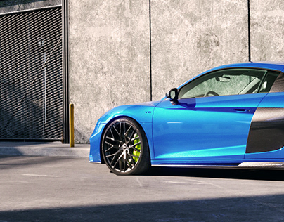 Audi R8 Performance // Sky Blue
