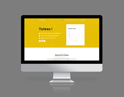 Tutees Online Education Landing Page