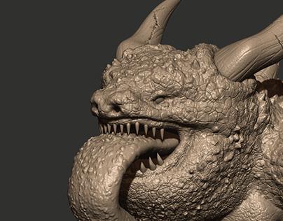 Horned Toad Sculpture