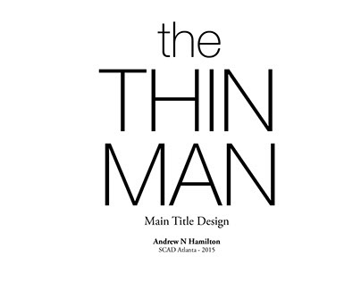 The Thin Man - title sequence