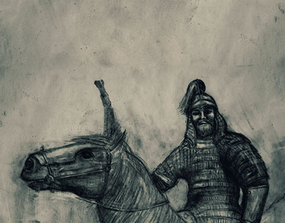 Mongol Warrior Illustration