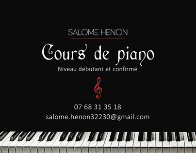 Carte de visite Cours de piano