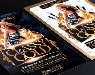 Gold & Classy Free Flyer Template