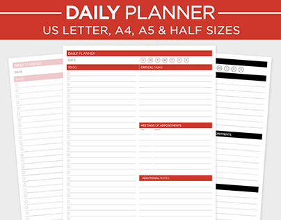 Daily Planner and Tasks Lists