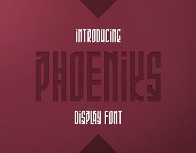 Phoeniks - Display Font | Free font, freebie
