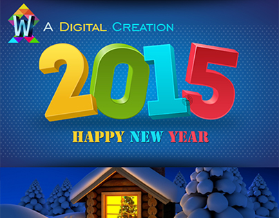 Happy New Year Banner of 2015.