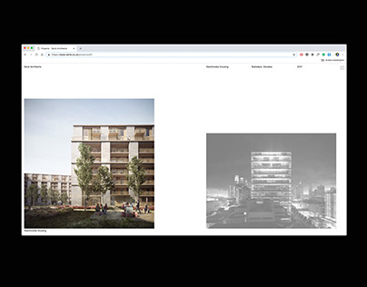 Serie Architects website