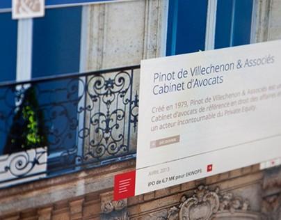 Pinot de Villechenon & Associés - Site Web
