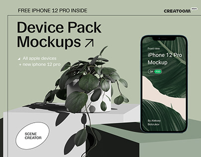 Device Pack Mockups - front view