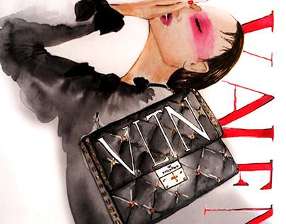 Fashion illustration for Valentino