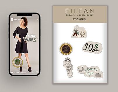 EILEAN. Instagram Stickers
