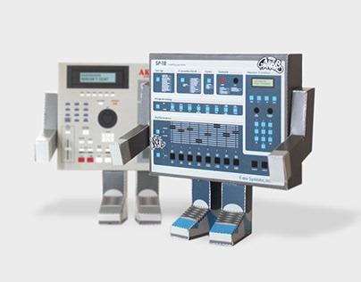 Paper Toy (SP-12 x MPC2000)