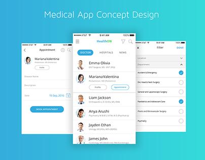 Medical App - UI/UX Concept