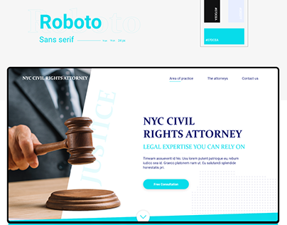 Civil Rights Attorney Landing page