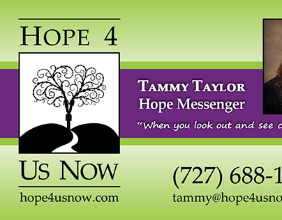Logo and marketing materials for Hope 4 Us Now