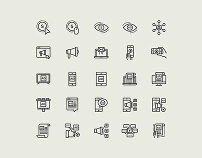 Digital Marketing Line Vector Icons