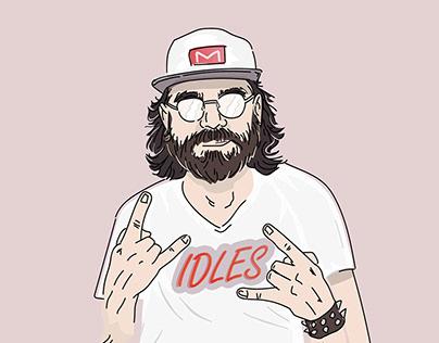 IDLES Band Art