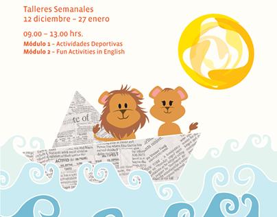 Logo and Digital flyers for Little Lions Nursery School