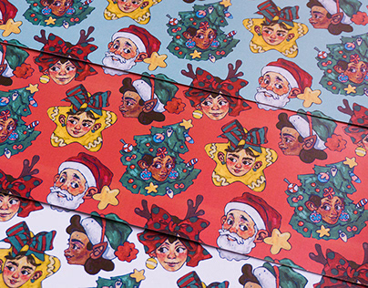 A Christmas Themed Seamless Pattern Design!