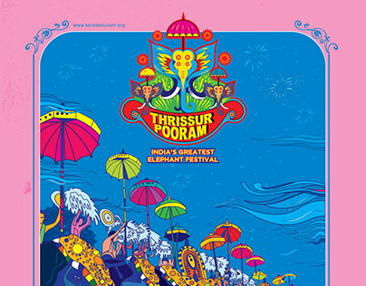 Thrissure Pooram Poster