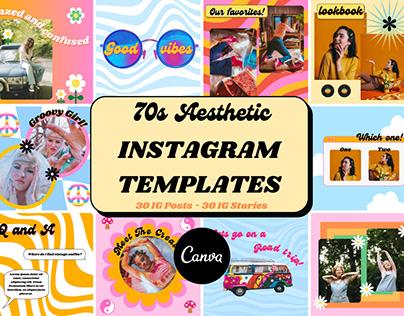 70s Instagram Templates