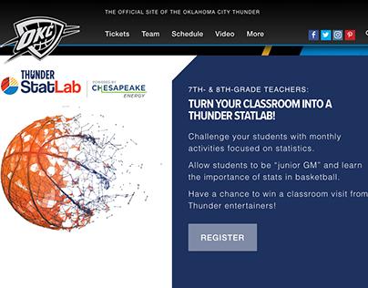 NBA.com OKC Thunder Statlab