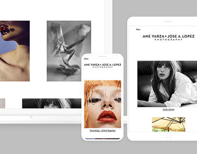 Ane + Jose Photography – responsive website