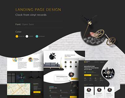 Clock Landing Page