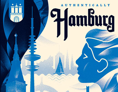 Herb Lester- Hamburg Illustrated Map