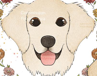 Golden Retriever Illustrations - Commission