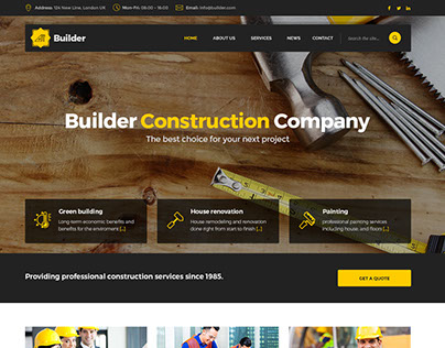 Builder - Construction HTML Template