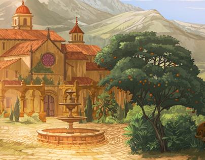 Broken Sword: the Serpent's Curse Backgrounds.