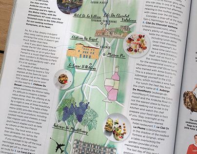 GQ Magazine Rhone Valley France Map